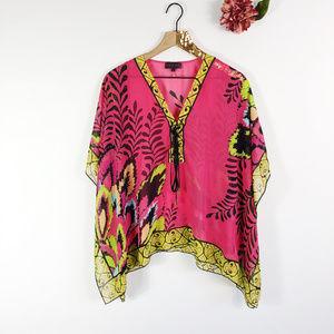 [HALE BOB] Tropical Kimono Swim Suit Coverup